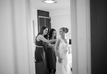Christina Maria Kyriakidou Wedding Dress B&W With Koumeres