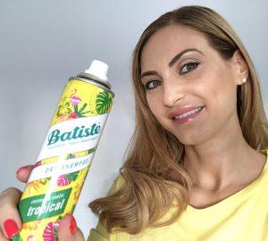Christina Maria Kyriakidou & Batiste Tropical Dry Shampoo
